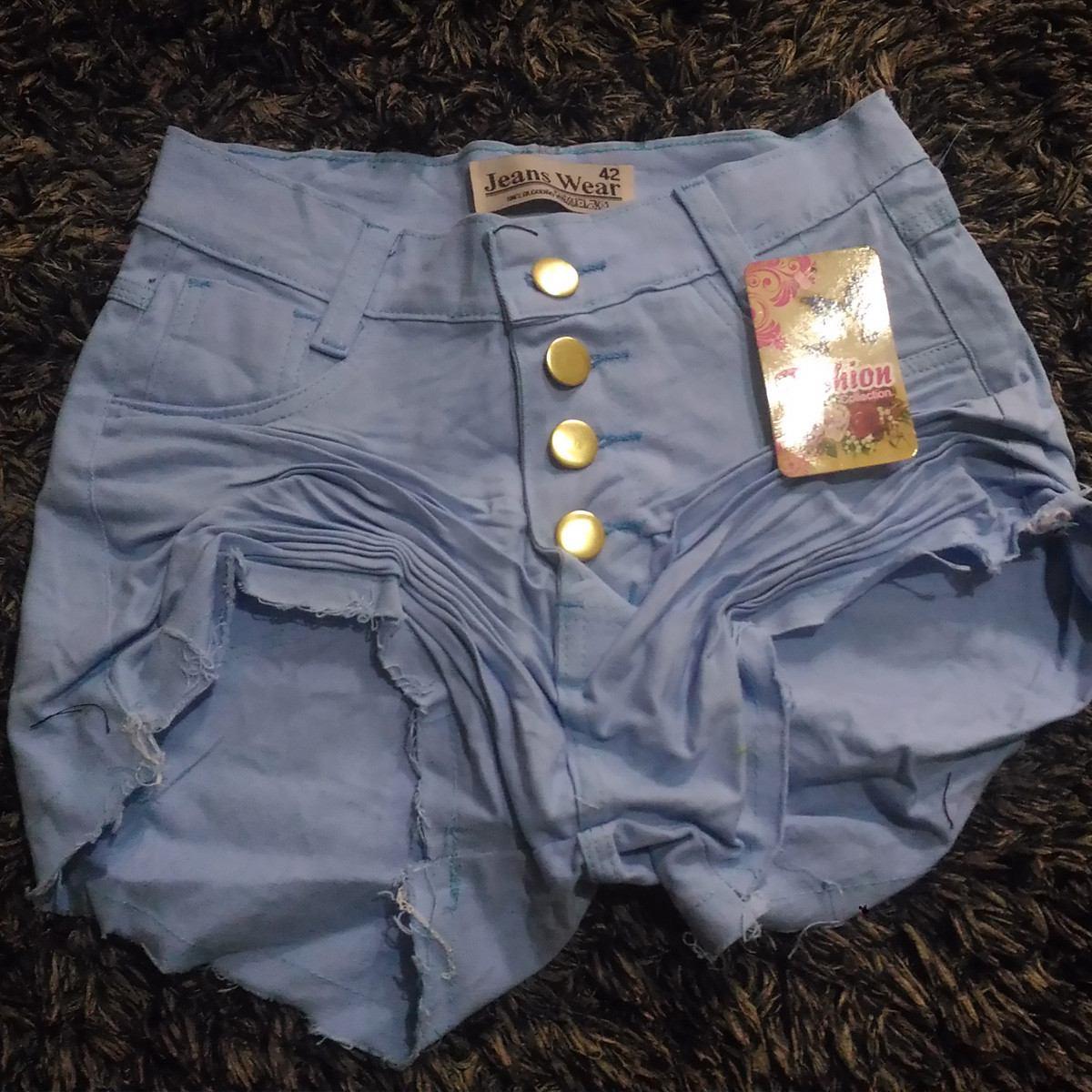 3f136c8d8 Shorts Jeans Feminino Cintura Alta Desfiado Hot Pants Azul - R$ 29 ...