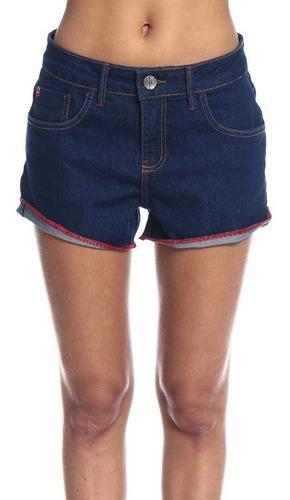 shorts jeans feminino com dobra be red 61200036