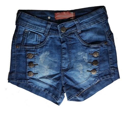 shorts jeans feminino desfiado hot pants cintura alta st016