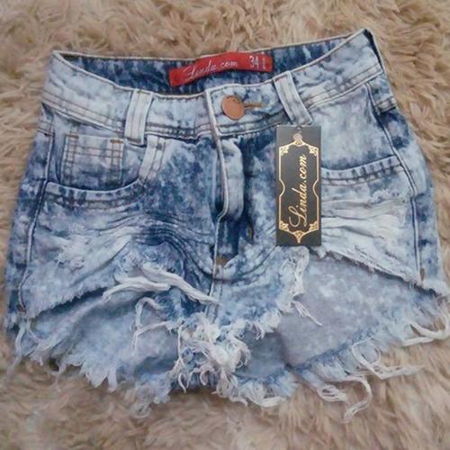 shorts jeans feminino destroyed