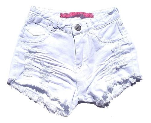 shorts jeans feminino destroyed hot pants cintura alta st016