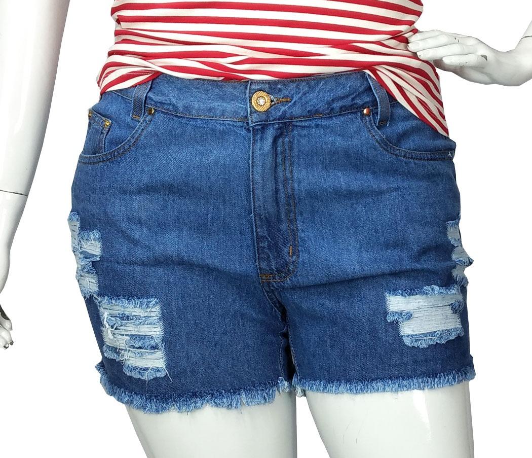 dedf5accda shorts jeans feminino plus size destroyed tamanho grande. Carregando zoom.