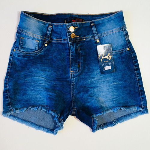 shorts jeans feminino plus size empina bumbum 2255