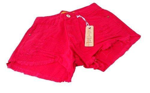 a8246fb18 Shorts Jeans Hot Pants Cintura Alta Destroyed Rosa Pink - R$ 70,18 ...