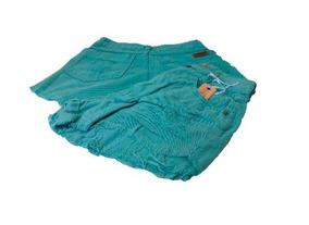 afc55f30c Shorts Jeans Hot Pants Cintura Alta Destroyed Verde