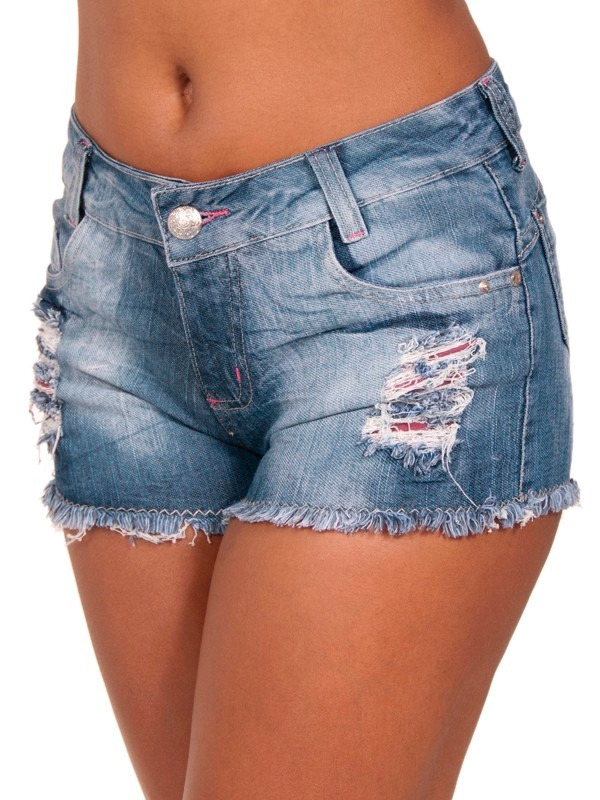 Shorts Jeans Gata Jeans Shortinho Rasgadinho Curto Veru00e3o ...