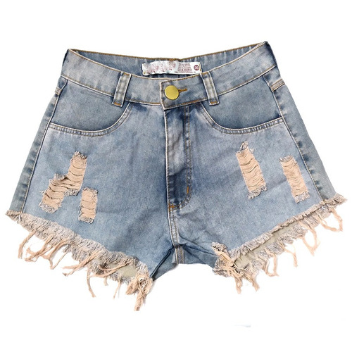 shorts jeans manchado destroyed hot pants rasgado st010