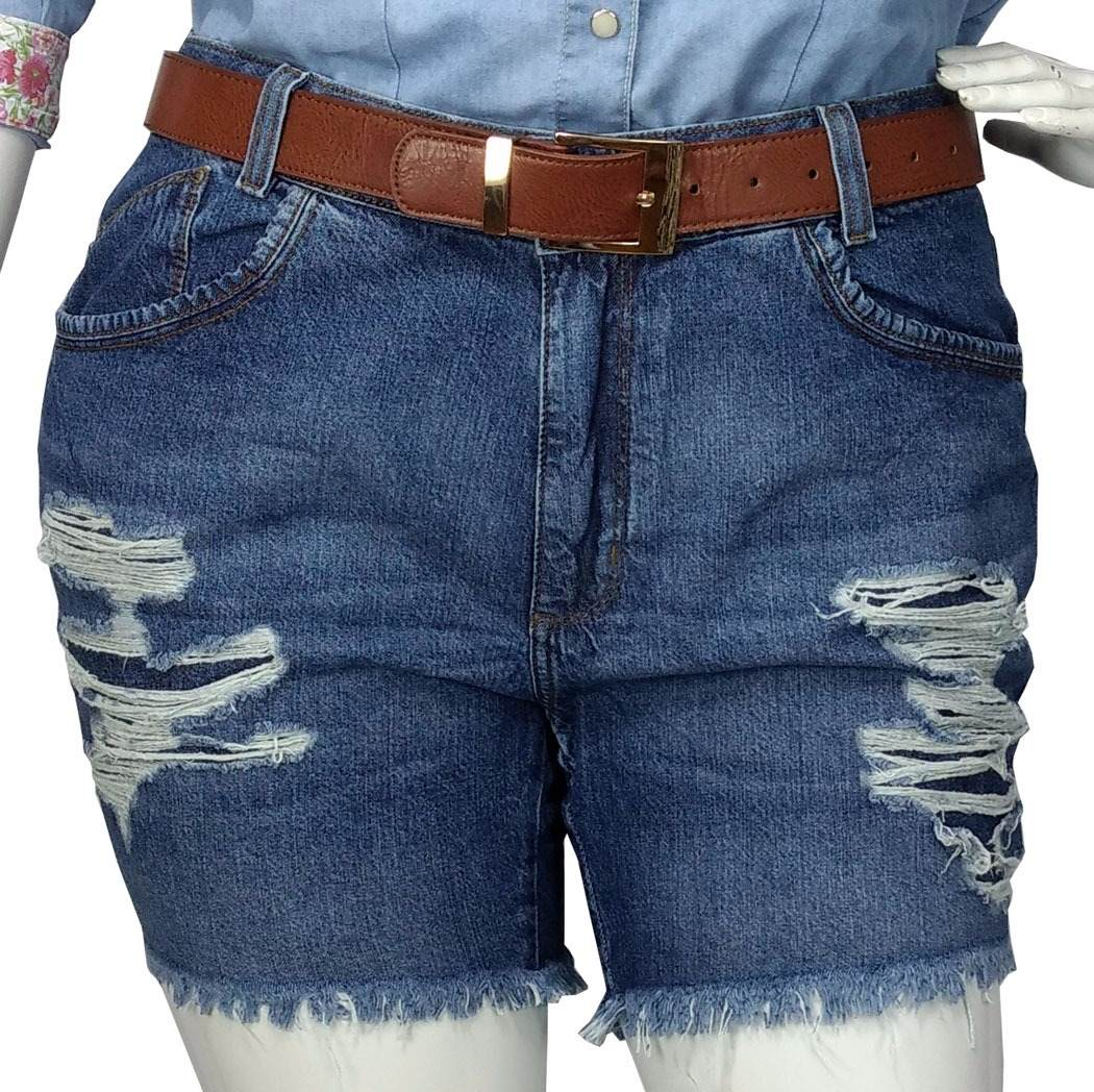 771d0b15d8 shorts jeans plus size destroyed tamanho grande feminino. Carregando zoom.