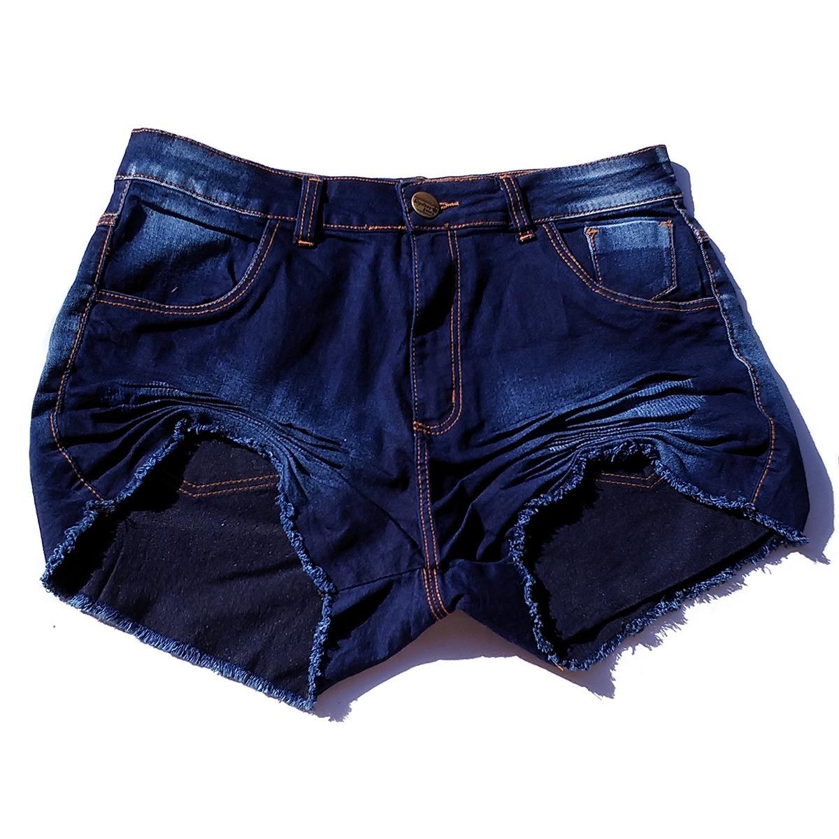 4092eb270e shorts jeans plus size feminino lycra grande 46 48 50 52 54. Carregando zoom .