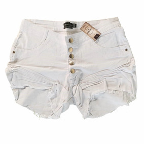 0a541c8ea Short Branco Plus Size - Shorts Jeans para Feminino no Mercado Livre ...