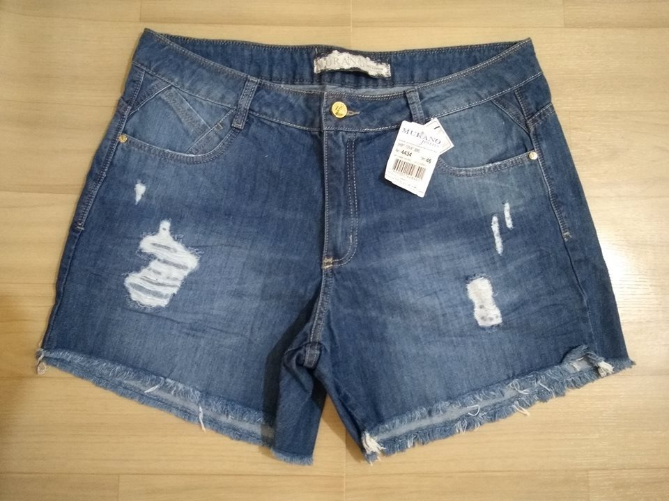 76ccced57 shorts jeans plus size tamanho 46 boyfriend murano. Carregando zoom.