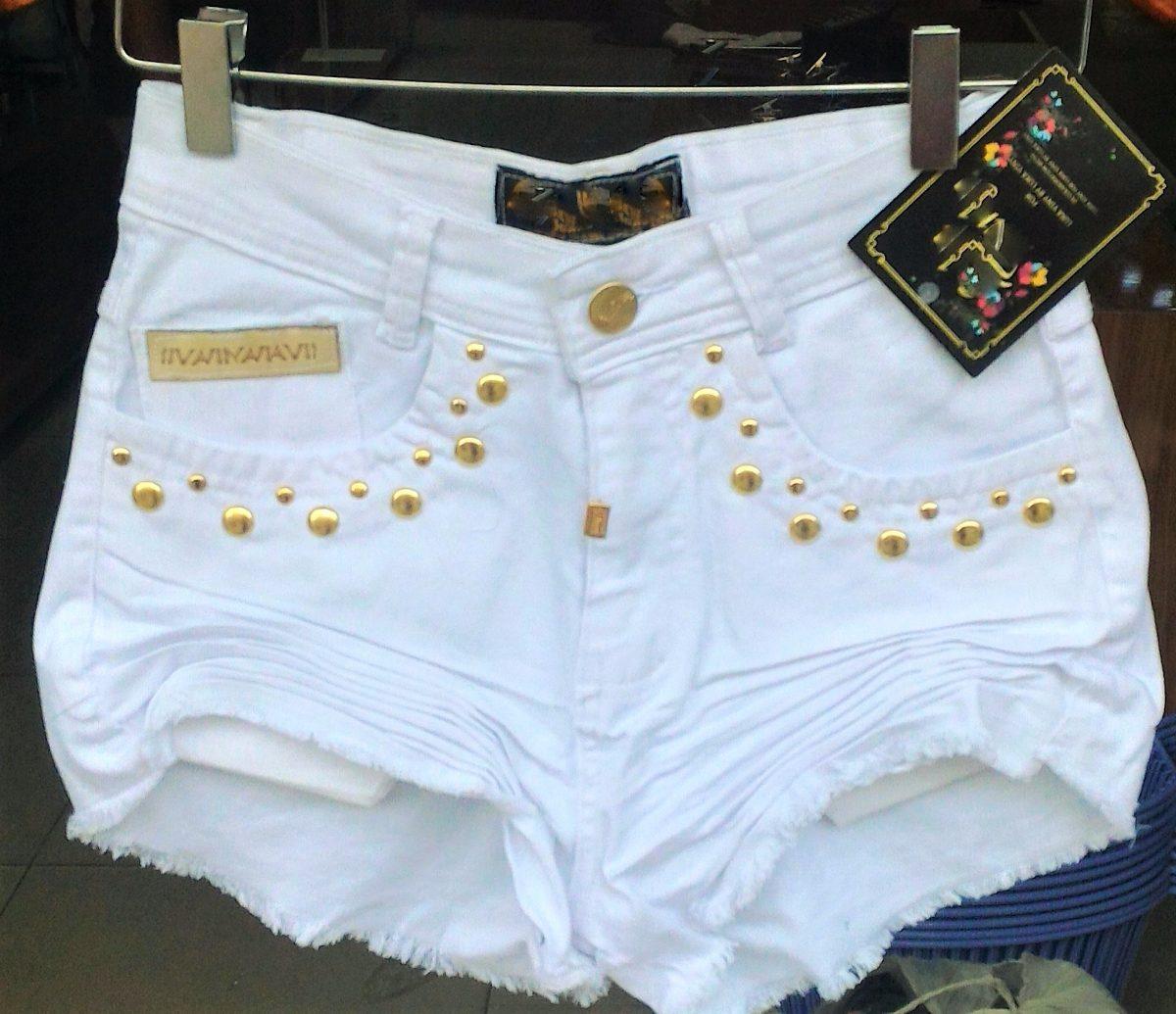 shorts jeans top curto rasgado botões hot pant branco balada. Carregando  zoom. 928960f247958