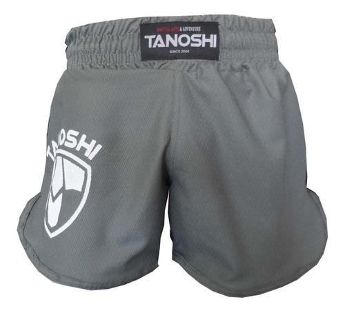 shorts luta muaythai, kickboxing, mma tanoshi htx cinza