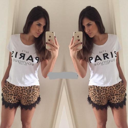shorts luxo detalhe renda