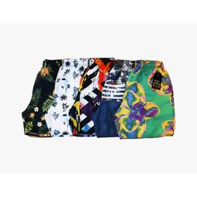 Shorts Masculino Moda Praia Kit C/10 Estampas Aleatórias