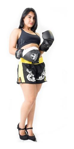 shorts muay-thai amarelo estampado trng tanoshi fight luta