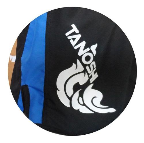 shorts muay-thai trng tanoshi azul estampado
