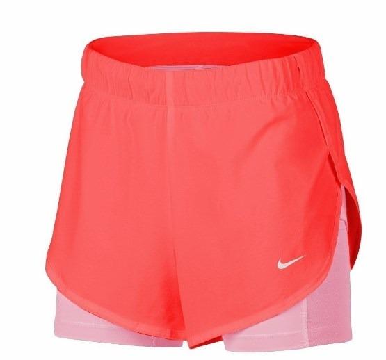 Shorts Nike Feminino Flex 2in1 Woven Fem Ar6353 Rosa lilas - R  159 ... 7d22221db28c4