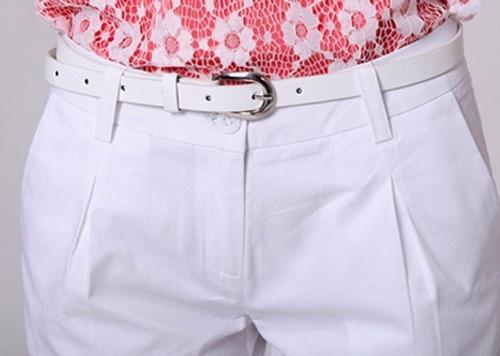 shorts para dama en gabardina