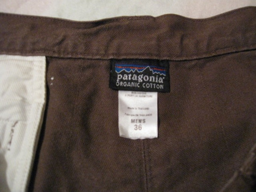 shorts patagonia talla w36 color cafe