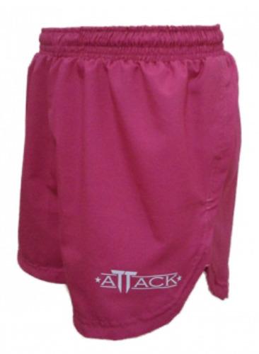 shorts running attack rosa p- m - g.