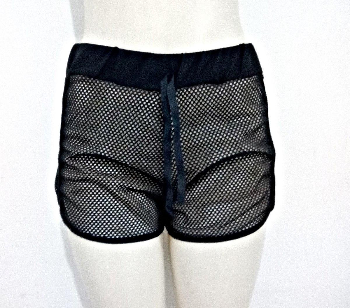 c3ee5318e shorts tela saída de praia arrastão transparente feminino. Carregando zoom.