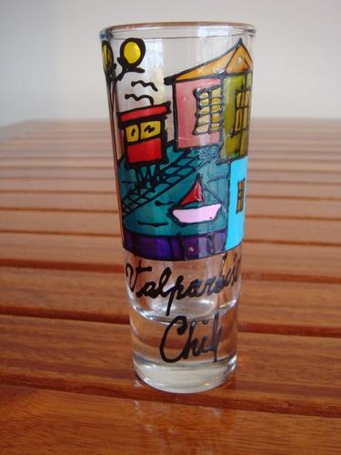 shot de tequila de valparaiso chile-pintado a mano! palermo