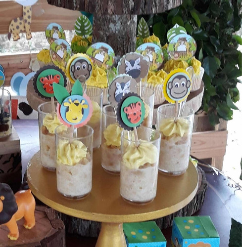 shot dulces para fiestas, mini pastel