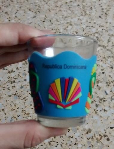 shot (vaso corto) rep. dominicana vidrio y protector de goma