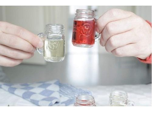 shots jarra juego de 4 vasos tequileros