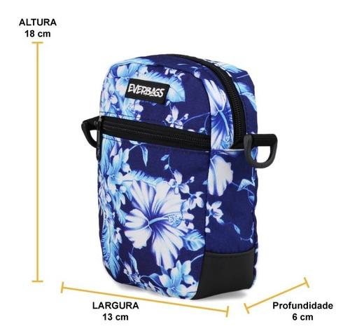 shoulder bag bolsa necessaire pochete everbags floral azul