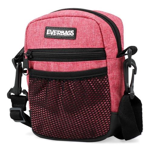 shoulder bag vermelho mescla everbags tira colo necessaire