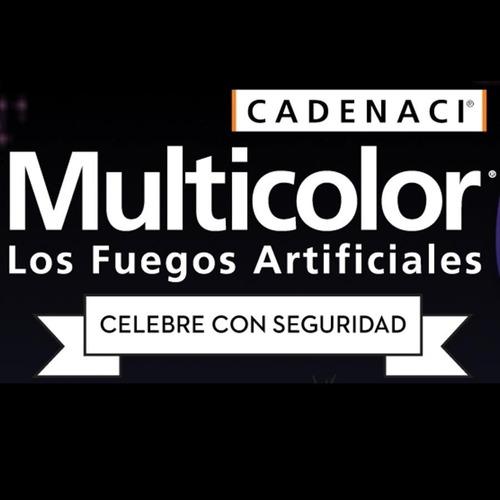 show 338 tiros multicolor fuegos artificiales pirotecnia