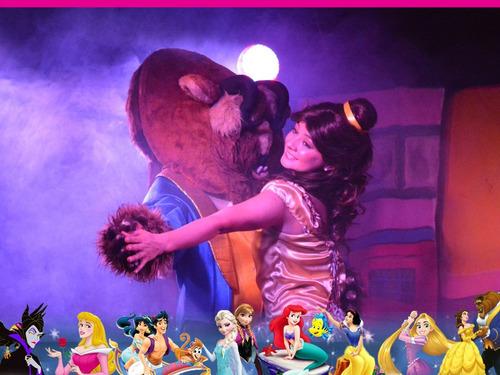 show animación bella y bestia la sirenita aladino princesas