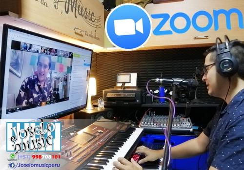 show animación orquesta digital virtual zoom y presencial