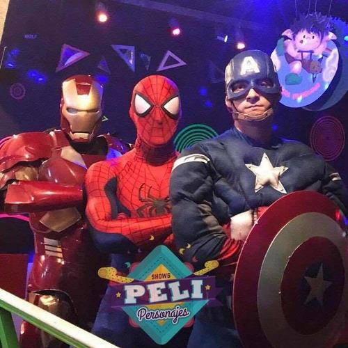 show animacion superheroes spiderman iron man fortnite dino