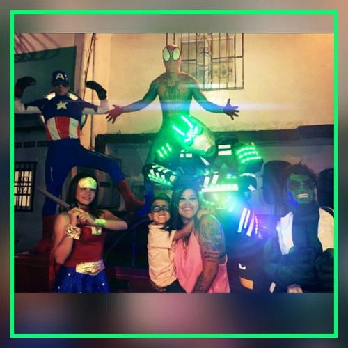 show avengers liga de la justicia robot led decoracion