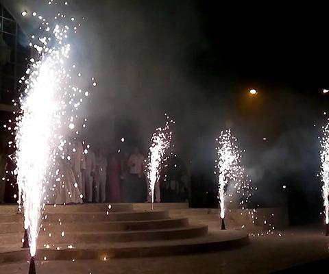 show bengalas chispa fría eventos matrimonios fiestas volcán
