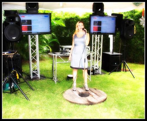 show cantante femenina, animacion , karaoke, sonido, eventos