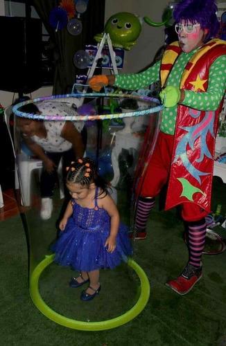 show de burbujas gigantes