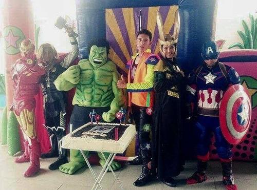 show de imitadores de avengers en puebla