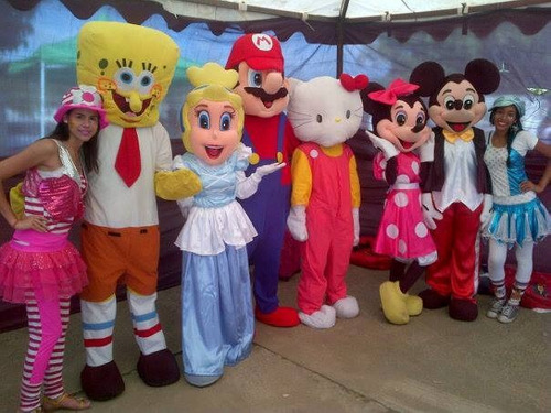 show de mickey y minnie, recreadores, colchones y más
