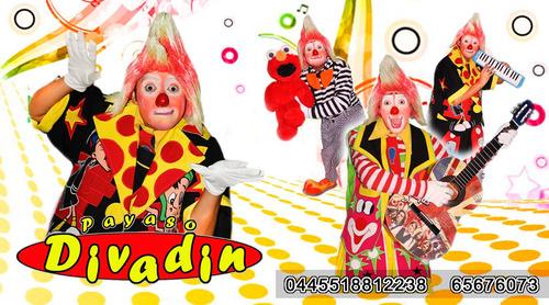 show de payaso divadin (magia, malabares, ventriloquia