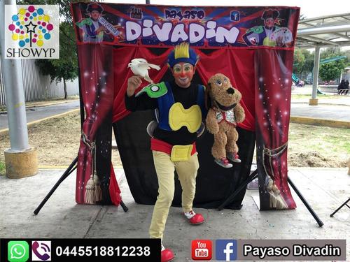 show de payaso divadin (magia, ventriloquia, malabares y mas