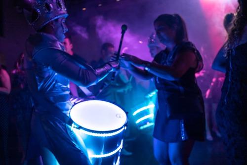 show de percusión led -  batucada led único en america!!