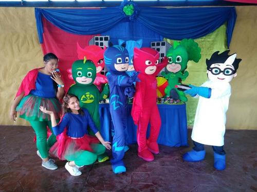 show de pj mask alquiler muñecote de heroes en pijamas