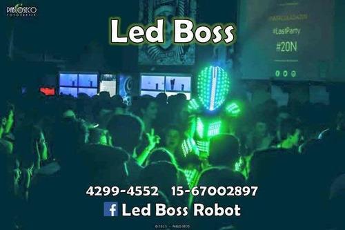 show de robot led   led boss robot