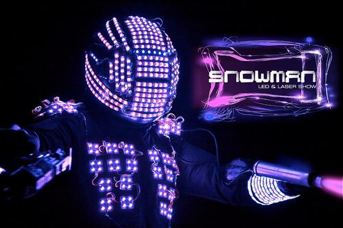 show de robot led snowman el mas impactante laser fx co2