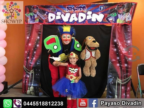 show del payaso divadin (magia, ventriloquia, malabares..