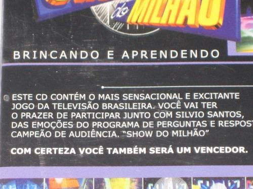 show do milhão - p/pc - jogo interativo - cd - antigo